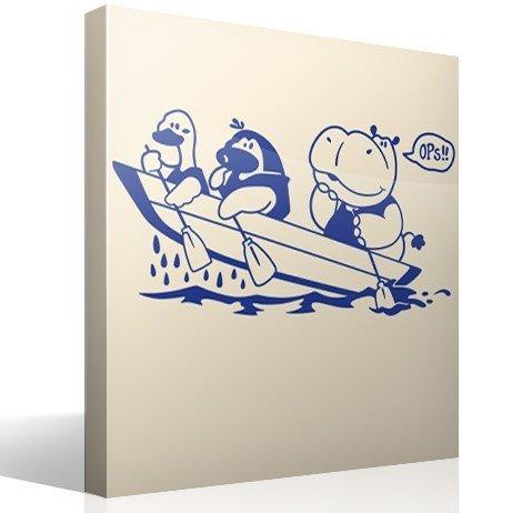 Kinderzimmer Wandtattoo: Hippo und Boot
