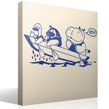 Kinderzimmer Wandtattoo: Hippo und Boot 3