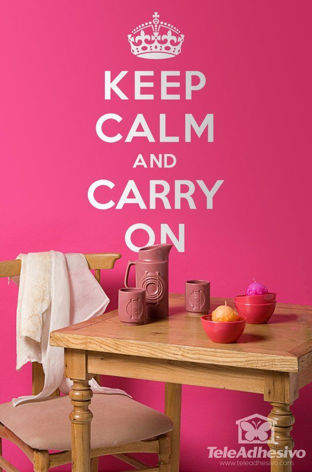 Wandtattoos: Keep Calm And Carry On