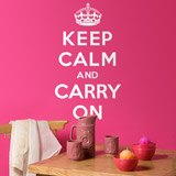 Wandtattoos: Keep Calm And Carry On 2