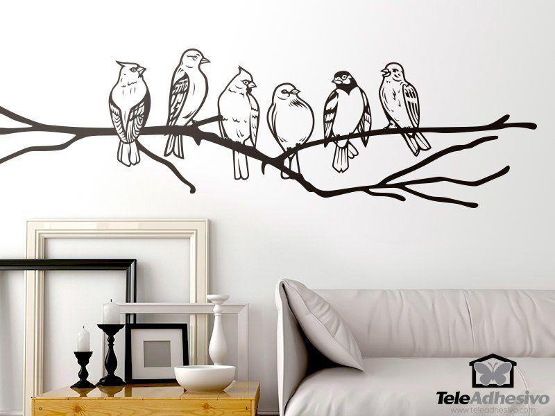 Wandtattoos: Vögel auf einem Ast