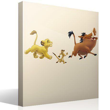 Kinderzimmer Wandtattoo: Simba, Timon und Pumba