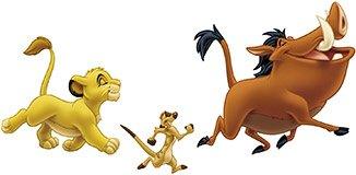 Kinderzimmer Wandtattoo: Simba, Timon und Pumba 3