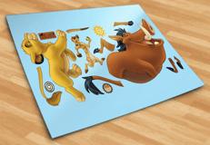 Kinderzimmer Wandtattoo: Simba, Timon und Pumba 4