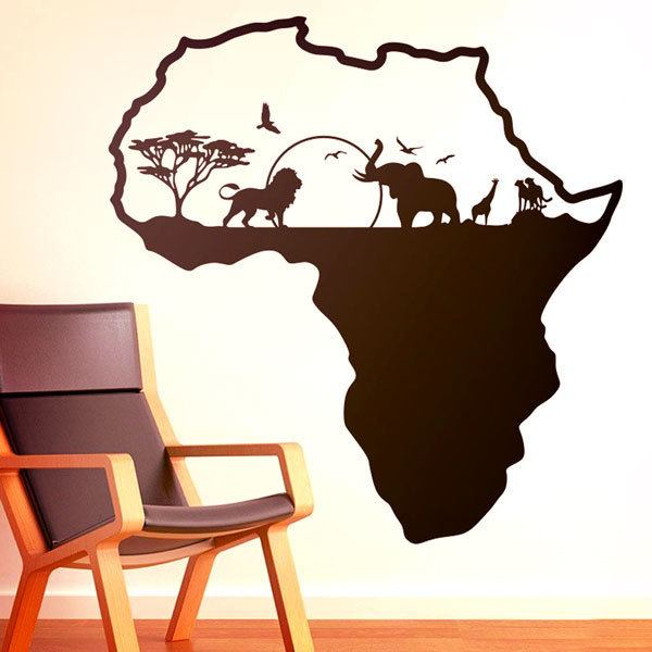 wandtattoo afrika silhouette skyline tiere. Black Bedroom Furniture Sets. Home Design Ideas