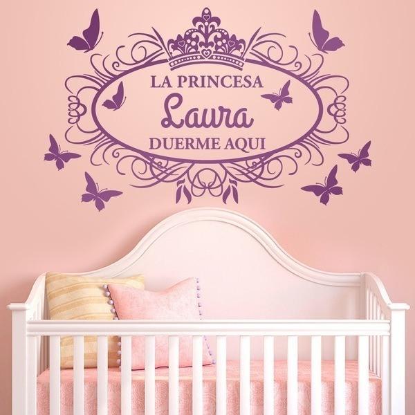 Wandtattoo Kinder Prinzessin Schlaft Hier Webwandtattoo Com