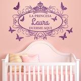 Kinderzimmer Wandtattoo: Prinzessin schläft hier 0