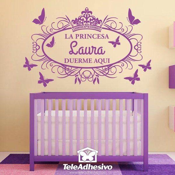 Kinderzimmer Wandtattoo: Prinzessin schläft hier