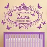 Kinderzimmer Wandtattoo: Prinzessin schläft hier 2