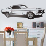 Wandtattoos: Ford Mustang Shelby GT 500 1