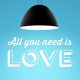 Wandtattoos: All you need is love 0