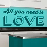 Wandtattoos: All you need is love 2