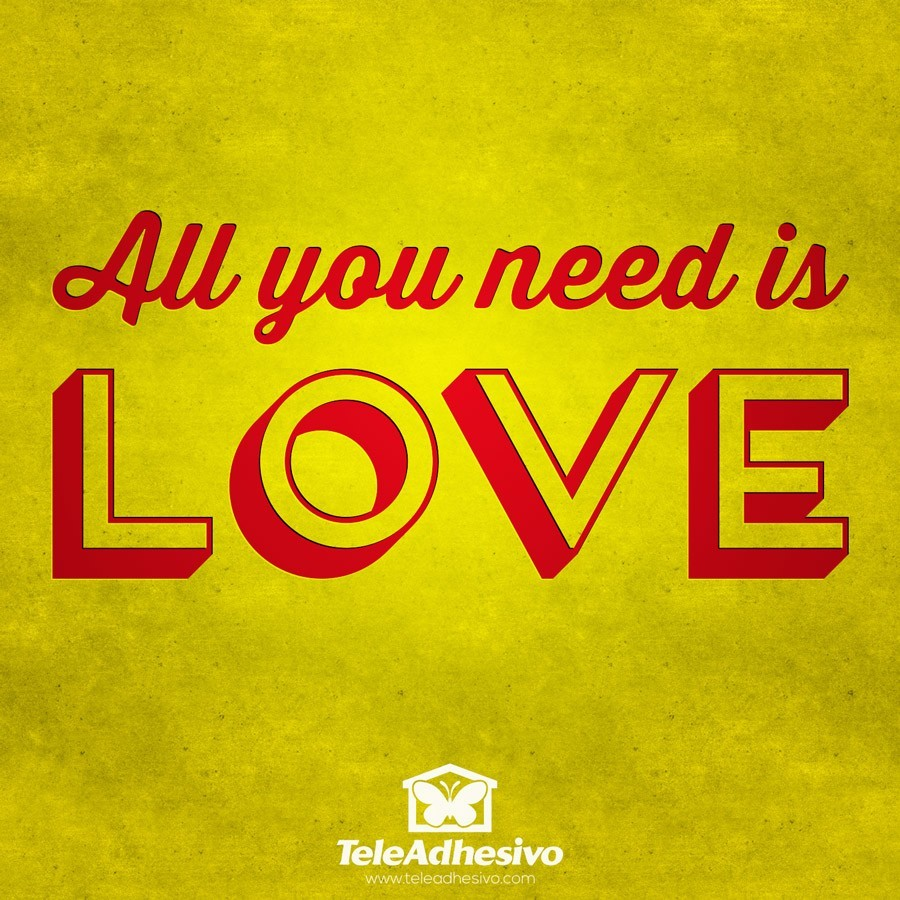 Wandtattoos: All you need is love