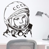 Wandtattoos: Astronaut Juri Gagarin 2