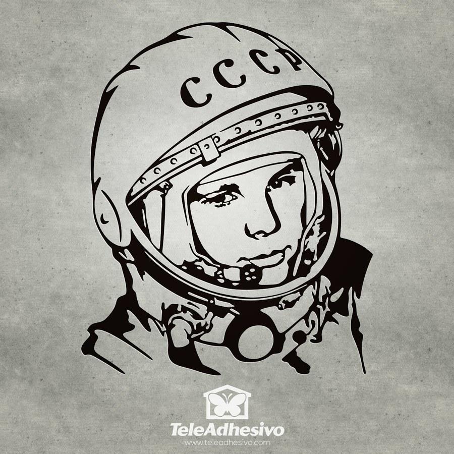 Wandtattoos: Astronaut Juri Gagarin