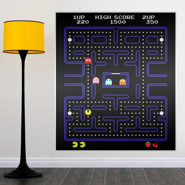 Wandtattoos: Pac-Man Arcade Game Farbe