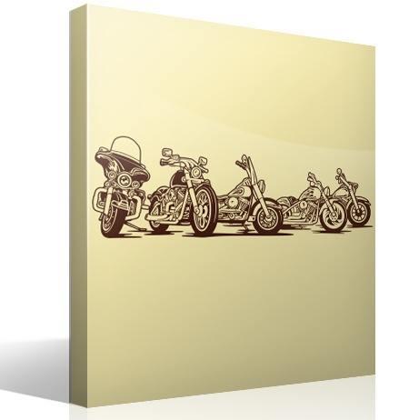 Wandtattoos: 5 Harley Davidson Motorräder