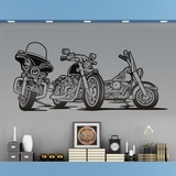 Wandtattoos: 3 Harley Davidson Motorräder 0