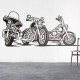 Wandtattoos: 3 Harley Davidson Motorräder 2