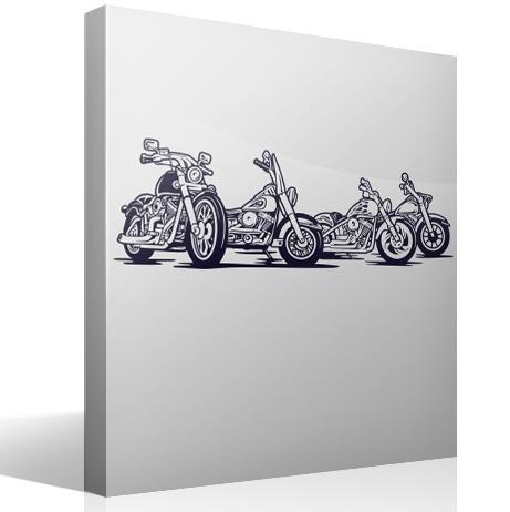 Wandtattoos: 4 Harley Davidson Motorräder