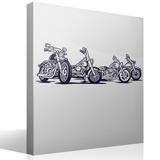 Wandtattoos: 4 Harley Davidson Motorräder 2