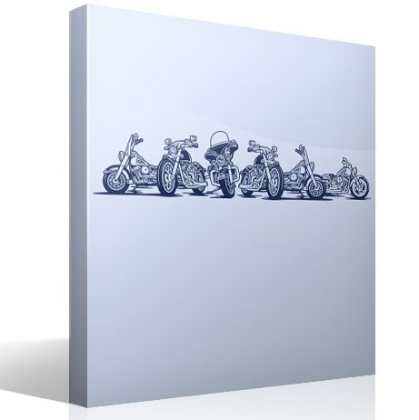 Wandtattoos: 6 Harley Davidson Motorräder