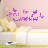 Kinderzimmer Wandtattoo: Personalisierte Schmetterlinge 1 0