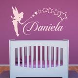 Kinderzimmer Wandtattoo: Personalisierte Tinkerbell Fee 0