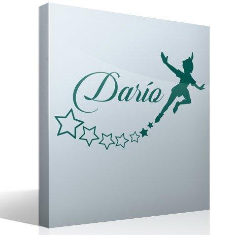 Kinderzimmer Wandtattoo: Personalisierte Peter Pan fliegen