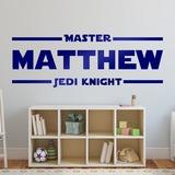Wandtattoos: Master Jedi Knight mit dem Namen 0