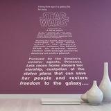 Wandtattoos: Star Wars Intro Text 0
