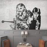 Wandtattoos: Chewbacca und Han Solo 0