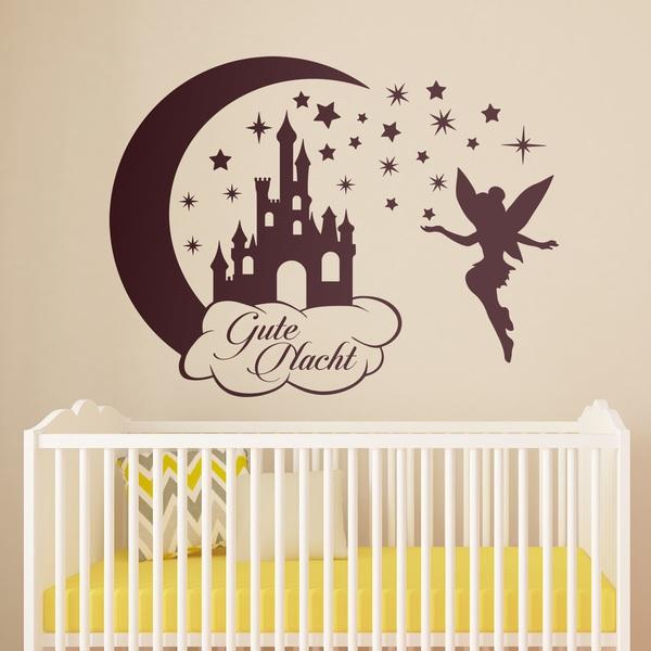 Schloss, Sterne und Tinkerbell Gute Nacht