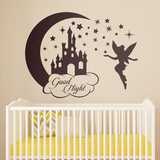 Kinderzimmer Wandtattoo: Castle, Sterne und Tinkerbell Good Night 0