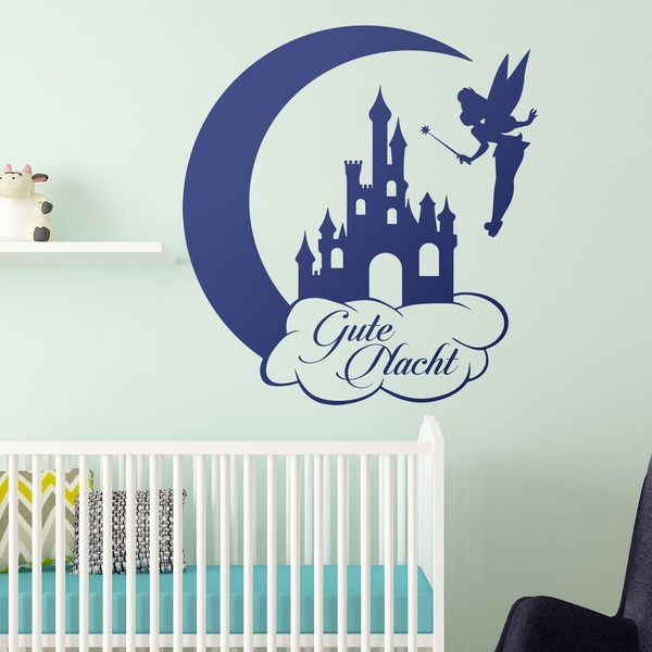 Wandtattoo Kinder Tinkerbell Castle And Moon Gute Nacht