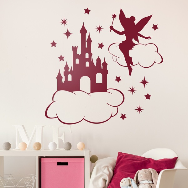 tinkerbell wolken sternen und schloss. Black Bedroom Furniture Sets. Home Design Ideas