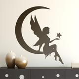 Kinderzimmer Wandtattoo: Fee auf dem Mond mit Stern 0