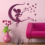 Kinderzimmer Wandtattoo: Tinkerbell, Mond und Sterne 0