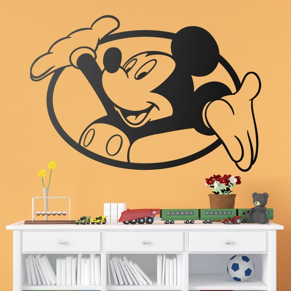 Kinderzimmer Wandtattoo: Fenster Mickey Mouse