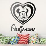 Kinderzimmer Wandtattoo: Benannt Minnie Mouse Herz 0