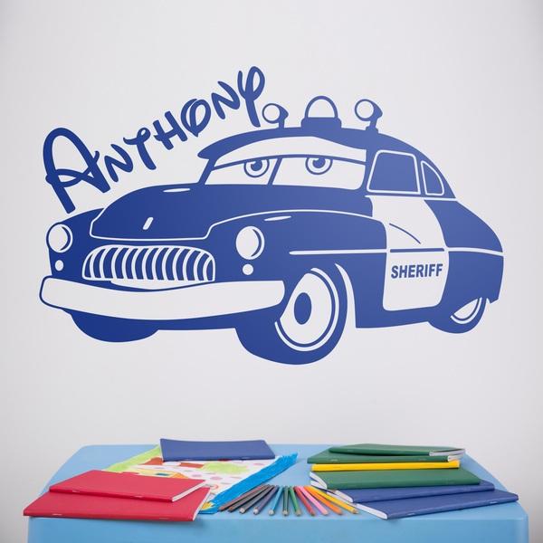 Wandtattoo kinder Sheriff-Auto personalisiert   WebWandtattoo.com
