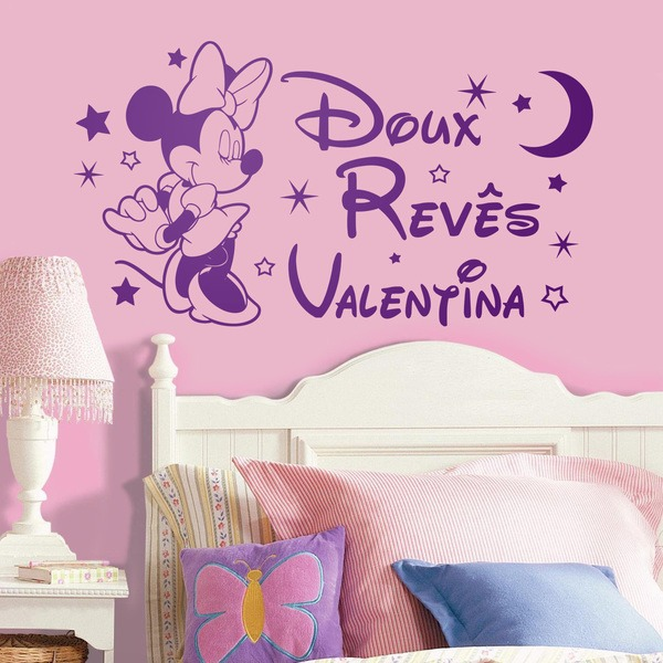 Kinderzimmer Wandtattoo: Minnie Mouse Doux Revês