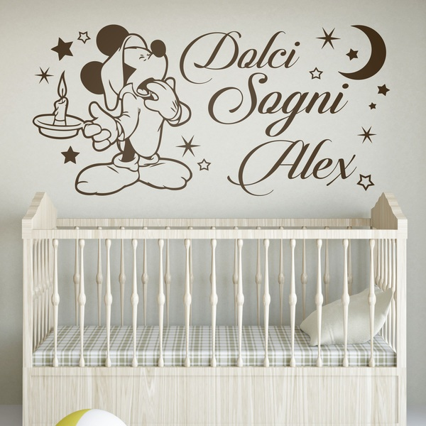 Kinderzimmer Wandtattoo: Mickey Mouse Dolci Sogni