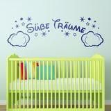 Kinderzimmer Wandtattoo: Wolken und Sterne Süße Träume 0