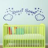 Kinderzimmer Wandtattoo: Wolken und Sterne Dolci Sogni 0