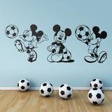 Kinderzimmer Wandtattoo: Triptychon Mickey Mouse Footballer 0