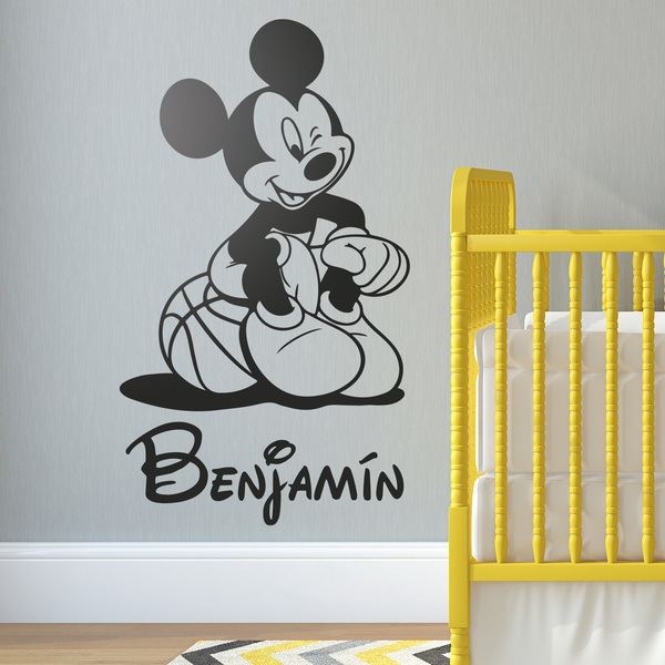 Kinderzimmer Wandtattoo: Mickey Mouse-Basketball-2