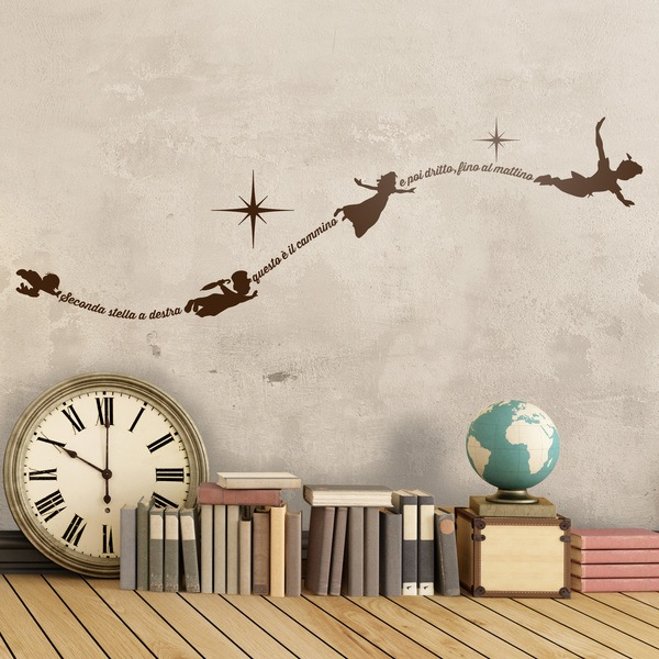 Kinderzimmer Wandtattoo: Typographic Peter Pan It
