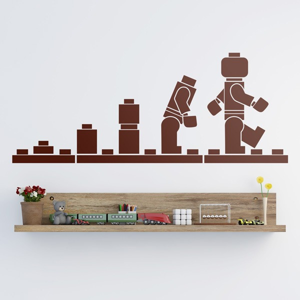 Kinderzimmer Wandtattoo: Evolution Lego Figuren