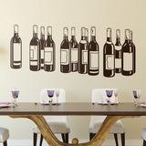 Wandtattoos: Flaschen Rotwein 0